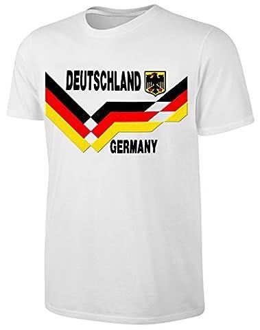 Deutschland T-Shirt Kinder Fußball Fan Shirt Weiß Größe 164