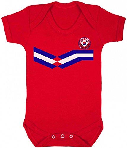 o Strip Bodysuit für Kinder Fussball-Weltmeisterschaft 2018 ()