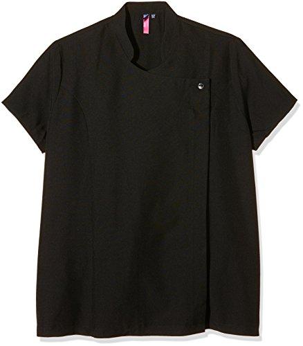 Premier Womens/Ladies Blossom Beauty & Spa Mandarin Collar Tunic Top Schwarz (Black)