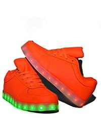 Usay like Envio 24 Horas Zapatillas LED con 7 Colores Luces Carga USB Rojo Niño Niña