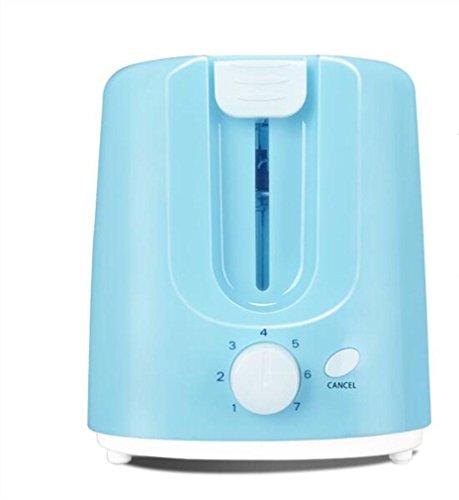 Große Elektro-röster (Happybeauty 2 scheiben Toaster 700W, erhellt Ihre Küche mit extra breiten Slots und Custom Toasting Settings-Blue)