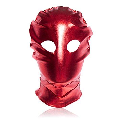 BESTOYARD Rotes Lederkostüm GIMP Maske Offene Augen Ledermaske Erotische Toys Paar Spielzeug Flirten Fetisch Maske für Sklavenspiele