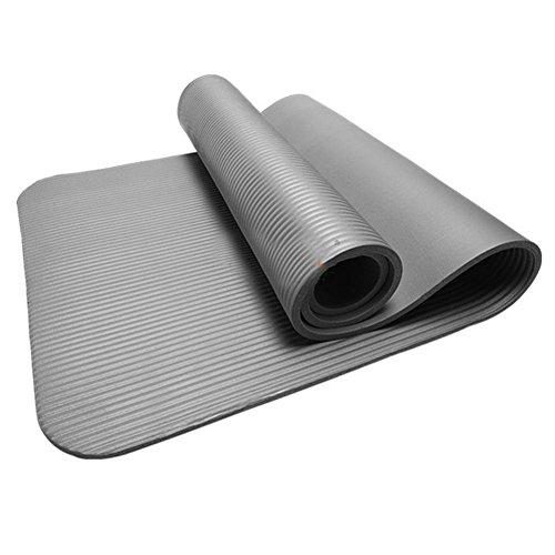 HCFKJ 10 MM Dicke Durable Yoga Matte rutschfeste Übung Fitness Pad Matte Gewicht Verlieren (GRAU) (The North Slip Face)
