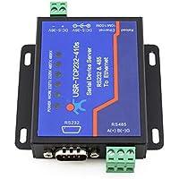 Usr-Tcp232-410S RS232/RS485 - Adaptador de Serie a Ethernet, Adaptador IP y convertidor Ethernet para Servidor DHCP/DNS