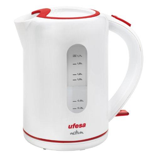 Ufesa Activa - Hervidor de agua, 2200 W, filtro antical, 3 sistemas de seguridad