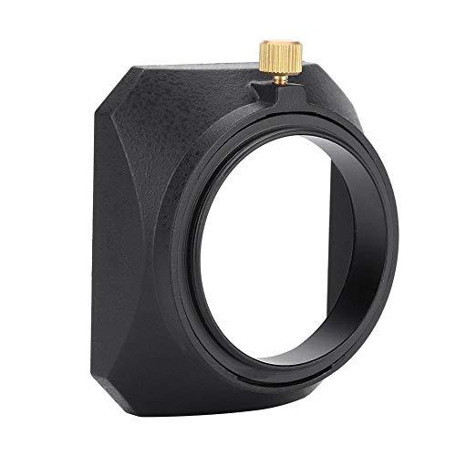 DV-Gegenlichtblende, 46 mm quadratische Gegenlichtblende für DV-Camcorder Digitalvideokamera-Objektivfilter oder Zylindergewinde (Sony Camcorder Infrarot)