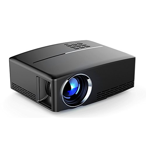 GUORZOM Projektor-Mini-Mikro-Videoprojektor-1800 Lumen LED-Heimkino-Projektor-Unterstützung HD 1080 P HDMI USB VGA AV Für PC/Laptop/DVD/TV/Video/Foto/Spiel/Film - Lebensdauer Von Dvd-filmen