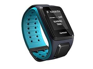 TomTom Runner 2 Music - Montre GPS - Bracelet Large Bleu Marine/Turquoise (ref 1REM.001.01)