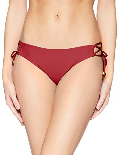 Ella Moss Bikini - (Ella Moss Damen Lace Up Swimsuit Bikini Bottom Bikinihose, Ember Red, Medium)