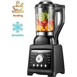 Aicook Blender, Mixeur Multifonction pour Smoothie et Milk-shake, Soupe et Sauce, Mixeur Jarre en verre de 1,75L, 8 Programmes(mode de refroidissement et de chauffage), Auto-nettoyage, 1400W