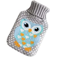 1L Wärmflasche Klassische Premium Hot Rubber Bag mit Soft Cover, Eule, A7 preisvergleich bei billige-tabletten.eu