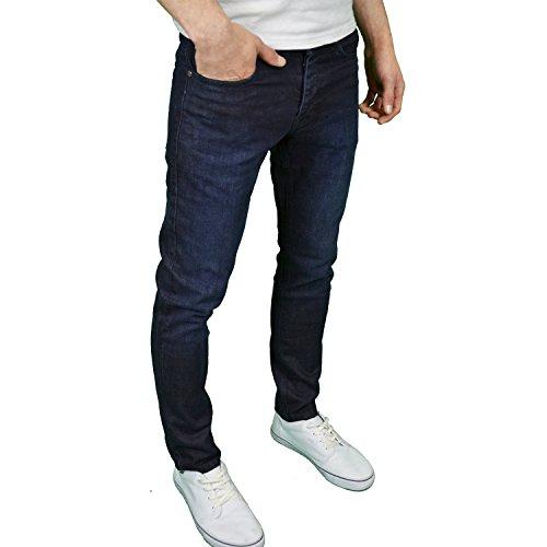 Enzo Herren Jeanshose Blau Blau Blau - Darkwash