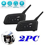 Tuo3eu V6 Motorcycle Intercom Helmet Bluetooth Headset 1200M Wireless Motorbike Interphone Connect Up