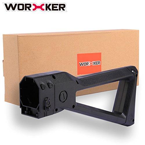 WORKER Shoulder Stock, Mecotech Culata Shoulder Stock Ligero Tail Stock para Nerf N-Strike Series, Nerf Modulus Series Toy Gun (Negro)