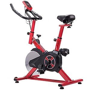 KUOKEL K601 – Indoor Cycling Bike Exercise Bike mit 10kg Schwungrad (Spinning Bike, Hometrainer, Gepolsterter Armauflage, Komfortsattel, ruhiges Reiten Pulsmessung bis 120kg)
