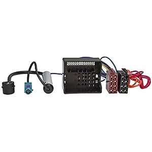 Baseline Connect Câble adaptateur autoradio pour OPEL, MOST/Quadlock vers ISO et hauts-parleurs + alimentation fantôme Fakra ISO