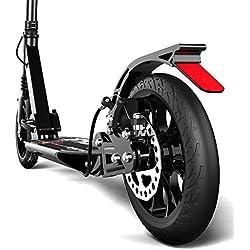 Monopattino- Scooter A Pedale Pieghevole per Adulti - 2 Ruote PU Grandi 190 Mm Scooter per Bambini, Altezza Regolabile (Non Elettriche)