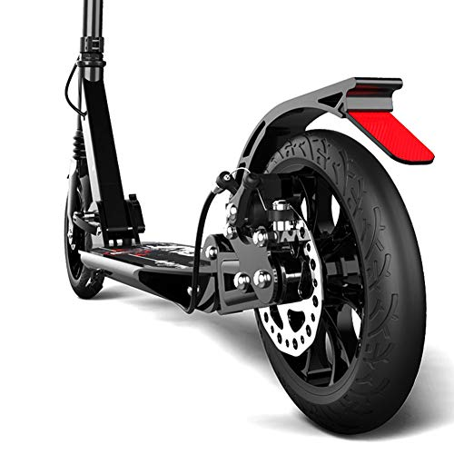 Patinete- Scooter Plegable para Adultos Scooter: 2 Ruedas Grandes De PU para Niños De 190 Mm Scooter, Altura Ajustable (no Eléctrica)