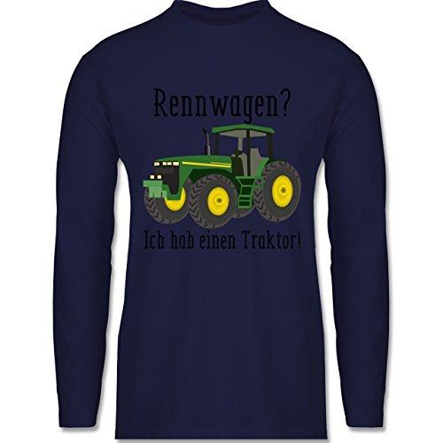 Shirtracer Landwirt - Rennwagen? Traktor! - Herren Langarmshirt Navy Blau