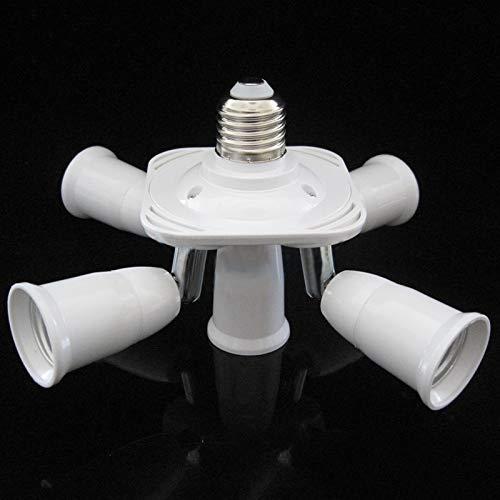 Houkiper E27 5 in 1 LED Licht Lampen Birnen Adapter Konverter Split Splitter Sockel -