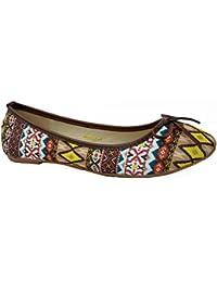 Zapatos marrones Tattopani para mujer
