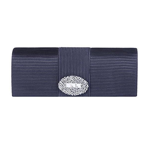 828a28f67 Ofertas para comprar online Bolso de mano Damara (Elegante Mujeres Cartera  Bandolera Con Pliegue Y Diamante Para Teléfono, Azul Marino)