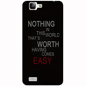 Casotec Life Quotes Design 3D Printed Hard Back Case Cover for Vivo X3S
