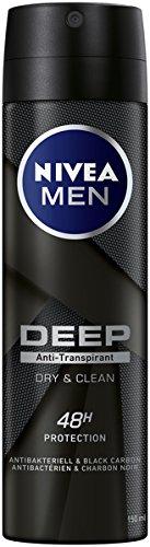 NIVEA MEN DEEP Dry Deo Spray im 6er Pack (6 x 150 ml), Antitranspirant für ein sauberes Hautgefühl, Deodorant mit 48h Schutz