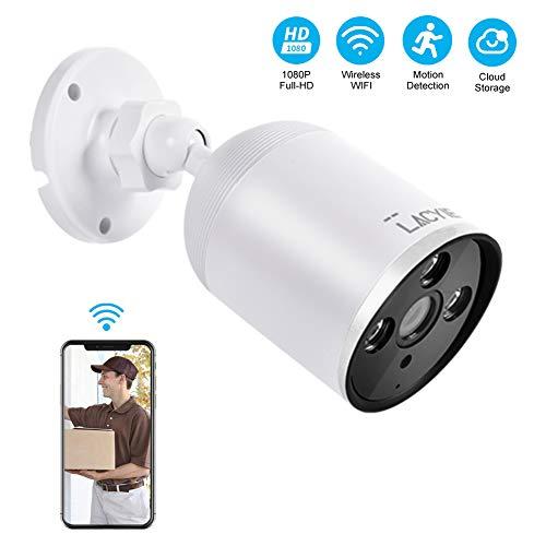 Überwachungskamera Aussen WLAN, LACYIE 1080P IP Kamera für Außen mit Bewegungserkennung 2 Weg Audio IP66 wasserdichte Sicherheitskamera Infrarot Nachtsicht (Wlan-überwachungskameras Im Freien)