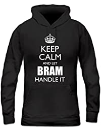 Sudadera con capucha de mujer Keep Calm And Let BRAM Handle It by Shirtcity