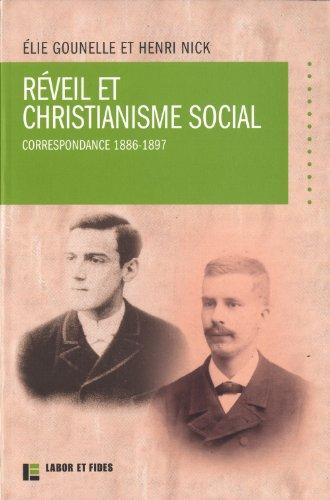Réveil et christianisme social : correspondance 1886-1897