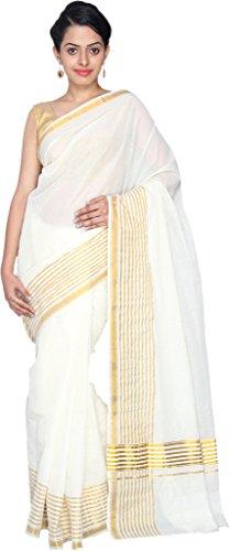 Fashionkiosks Cotton Saree (Nayan Thara_Cream)
