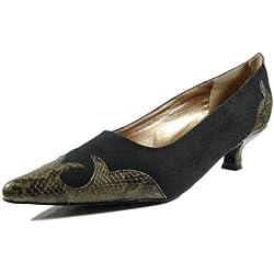 Ornela Brenti 33044-601 Damen Schuhe Premium Qualität Western Pumps Schwarz (schwarz) [EU 39.0]