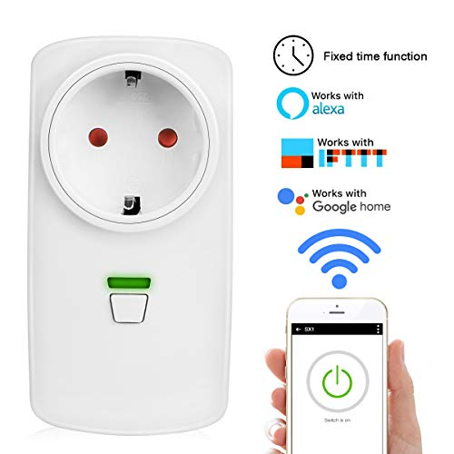 Wireless-netzwerk-symbol (WiFi Smart Steckdose WLAN Intelligente Plug, Zaeel intelligente wireless Steckdose mit Timing-Funktion, Fernsteuerung Steuerung per iOS & Android APP, Kompatibel mit Amazon Alexa/IFTTT / Google Home)