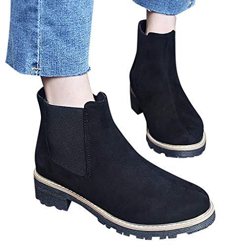 Womens Waterproof Combat Boot (Damen Casual Kurz Ankle Boots Schnalle Knöchelriemen Sandalen Classic Waterproof Shoses Boots Chelsea Boots)