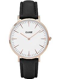 Cluse Montre Femme Analogique Quartz avec Bracelet en Cuir – CL18008