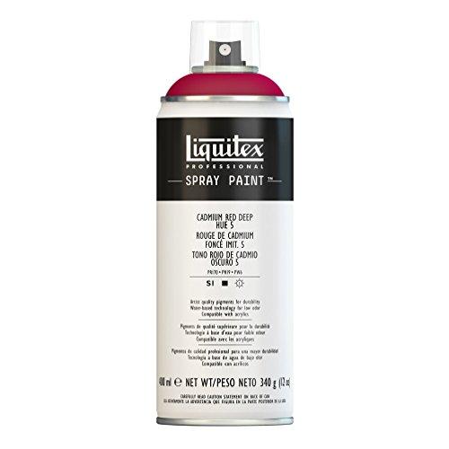 Liquitex Professional - Acrílico en spray, 400ml, rojo de cadmio oscuro (imitación) 5