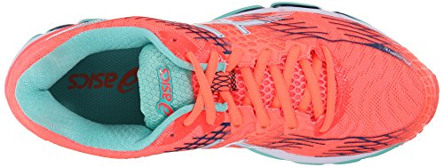 Asics Gel-Nimbus 17 Damen Synthetik Laufschuh Flash Coral/white/indigo Blue