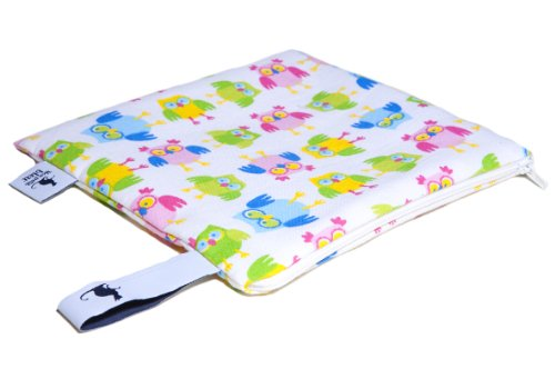 Mon Petit Bleu 5901323929847 Multi Use Bag - Multi-Funktions-Tasche - vielfach nutzbar, waschbar, wasserdicht und sogar lebensmittelecht - Muster Eulen, Größe S