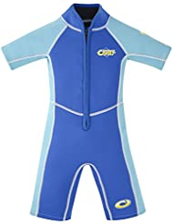 Osprey Traje corto de buceo para niños Kid's Summer con protección SPF 50+, 2 mm, Niños, Shorty Octopus SPF 50 Plus 3/2 mm, Octopus - Blue