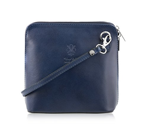Mayfair Cashmere Made in Italy - 100% italienisches Leder Handmade Small/Mini Cross Body/Schulter Handtasche/Clubbing Bag-Design 2018 in Lapislazuli