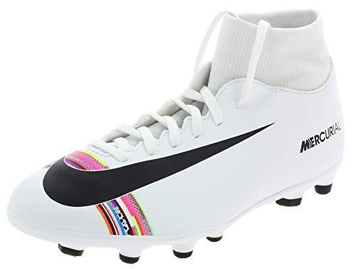 Nike Superfly 6 Club Fg/MG, Scarpe da Calcetto Indoor Unisex-Adulto, Bianco Black/White 000, 45.5 EU