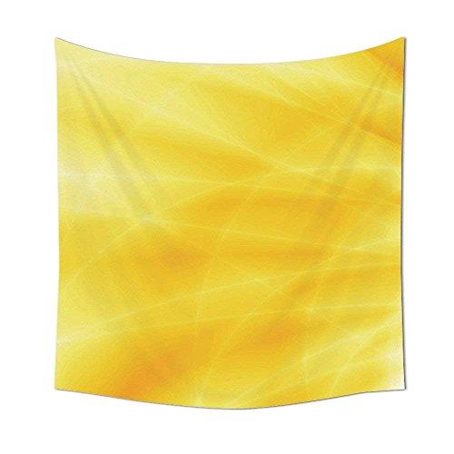 Gelb Decor Kollektion Abstrakt Vibrant Summer Sun Set Bright verschiedenen Shades of Dream Stil Design Deko Schlafzimmer Wohnzimmer Wohnheim Wand Wandteppiche Gelb, multi, 51.18 x 51.18 Inch
