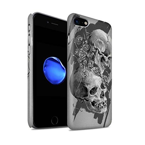 STUFF4 Matte Snap-On Hülle / Case für Apple iPhone 7 Plus / Nebel Muster / Schädel Kunst Skizzieren Kollektion Dornen