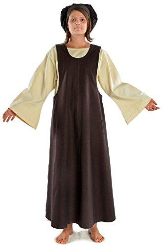 HEMAD Mittelalter Überkleid braun geschlossen Mittelalterliches Kleid (Templer Kleidung)