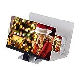 Handy Ständer,Handy Halterung,3D Bildschirm Lupe Premium-Smartphone-Lupe mit 2-Fach-Vergrößerung & optischer Acryllinse (Bildschirm-Lupe für Smartphone) (Gold)