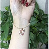 Lnyy Akoya-Perle Anhänger Sakura Blüte Akoya Anhänger Halskette