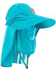 sombrero de la pesca Mosquito sol del verano del sombrero de la pesca del sombrero visera Sra gran sombrero de ala transpirable casquillo de la pesca profesional al aire libre