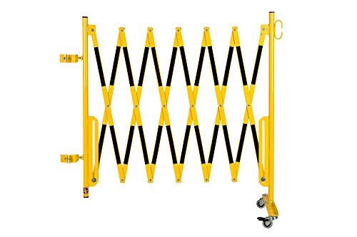 Doc Grille de protection Ciseaux montagekit pour les poteaux de blocage existants (non inclus dans la livraison) 3600 mm, 70 x 70 mm, jaune/noir
