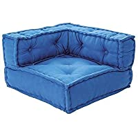 lounge-zone Kindersofa Kids Cushion Sofa Element L Eckelement 65x65cm - Blau #14532 preisvergleich bei kinderzimmerdekopreise.eu